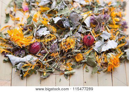 Herbal dry tea