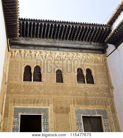 Alhambra Facade Of The Palace Of Comares