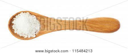 Wooden spoon of the rock salt