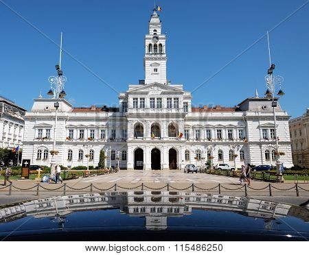 Town Hall reflection in Arad, Romania