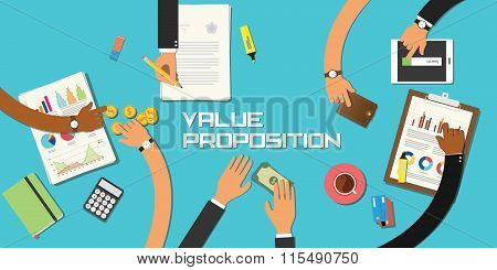 value proposition concept team work business