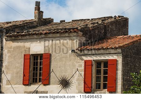 a couple of Painted windows in Arles