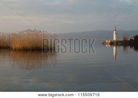 sunset on Lake Iznik