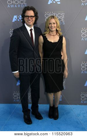LOS ANGELES - JAN 17:  Davis Guggenheim, Elisabeth Shue at the 21st Annual Critics Choice Awards at the Barker Hanger on January 17, 2016 in Santa Monica, CA