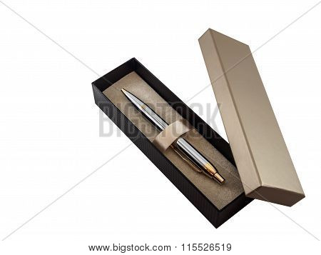 Pen in Box On White Background