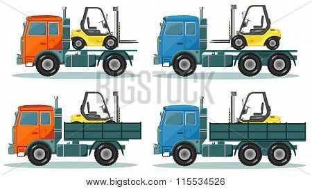 Road trucks, Vector