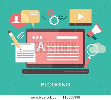 Template blogging infographics. Concept for website banners and promotional materials. File is saved in AI10 EPS version. This illustration contains a transparency