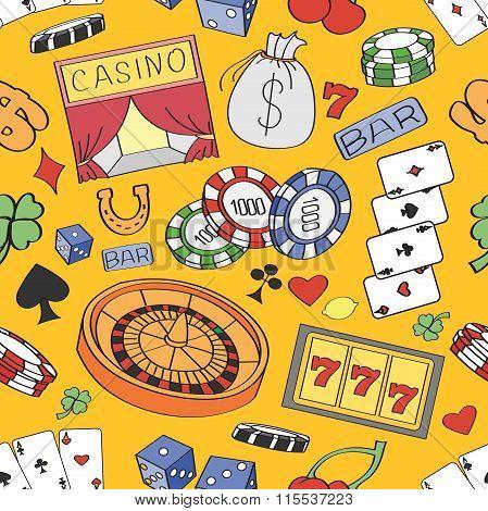Doodle pattern casino