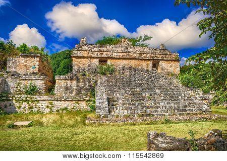 Ek Balam Mayan Archeological Site. Maya Ruins, Yucatan Peninsula, Mexico