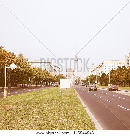 Karl Marx Allee, East Berlin Vintage