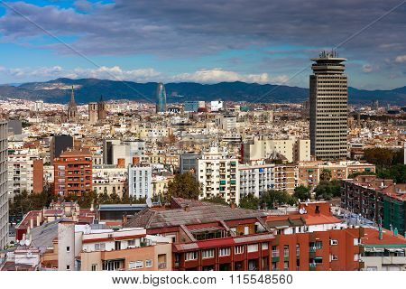 Barcelona aerial view, Spain