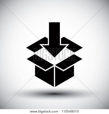 Gift Box Conceptual Simple Single Color New Idea Vector Symbol.