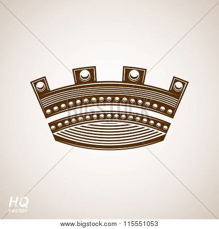 Royal design element regal icon. Vector majestic crown