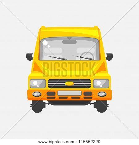 Minibus front view
