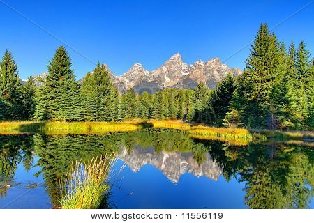 Schwabacher's Landing in the Grand Teton National Park in Wyoming poster