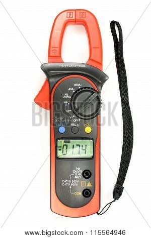 Clamp Meter Isolated On The White Background