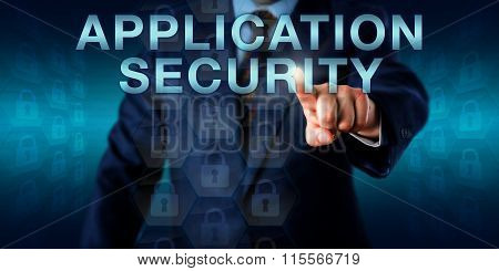 Executive Pushing Application Security Onscreen
