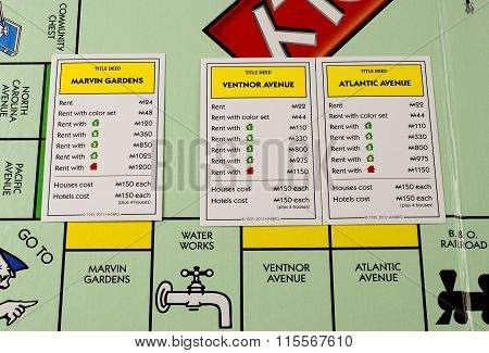 Monopoly Yellow Cards