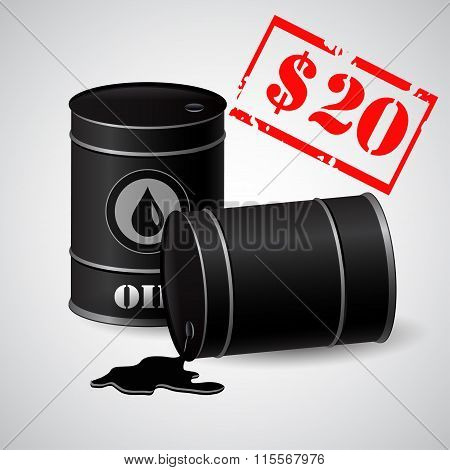 Oil Barrel Illustration Price  20 dollars