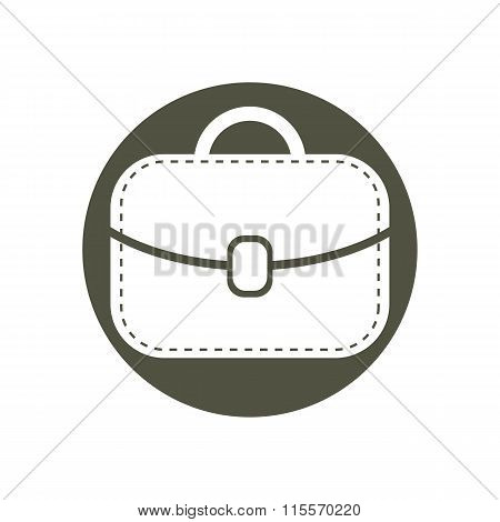 Women leather bag simple vector icon, accessories for ladies