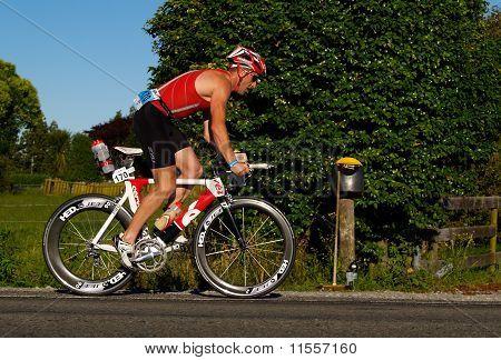 Cyclists in Port of Tauranga Half Ironman event.