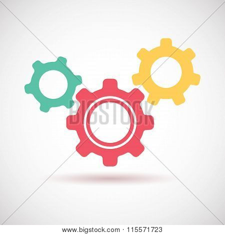 Gears, shift gears, change gears. Vector illustration.