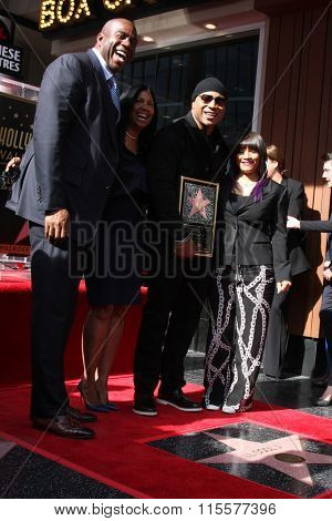 LOS ANGELES - JAN 21:  Magic Johnson, LL Cool J at the LL Cool J Hollywood Walk of Fame Ceremony at the Hollywood and Highland on January 21, 2016 in Los Angeles, CA