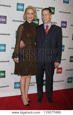 LOS ANGELES - JAN 21:  Sarah Paulson, Richard Hicks at the 31st Annual Artios Awards at the Beverly Hilton Hotel on January 21, 2016 in Beverly Hills, CA