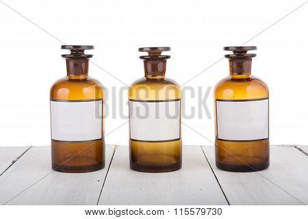 Alternative Medicine Bottels With Blank Labels