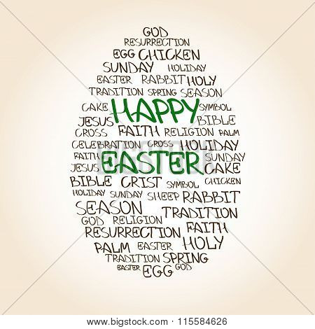 Easter egg made handwritten words vector photo bigstock easter greeting card with egg made from handwritten words m4hsunfo