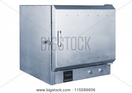 modern vacuum furnace on a white background