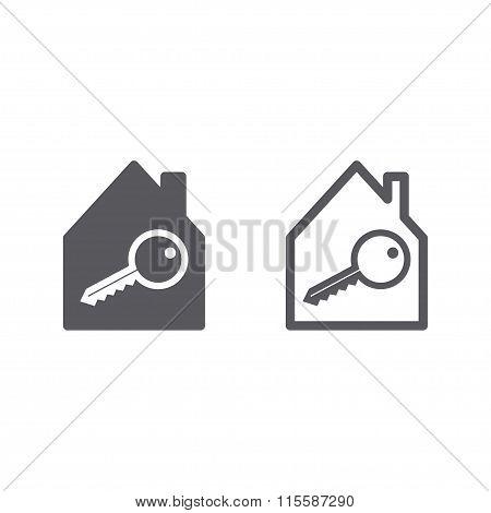 Real Estate icons, black white