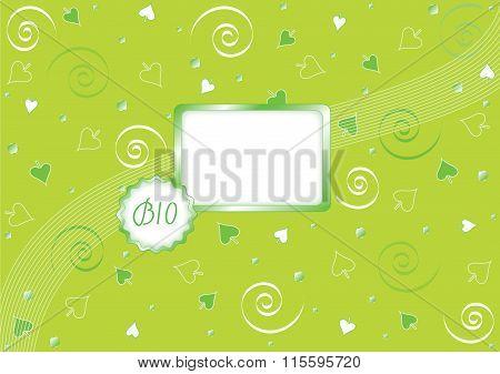 Green bio background