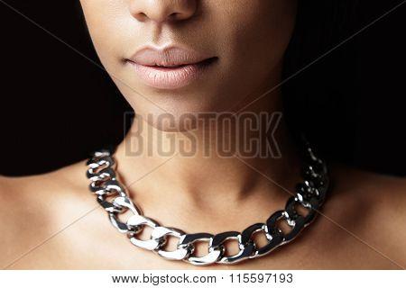 No Makeup Lips Closeup