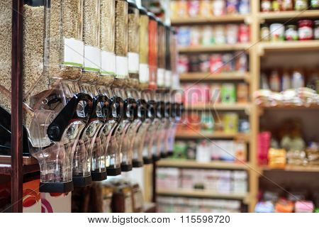 Healthy Organic Food In Bio Shop, Interior