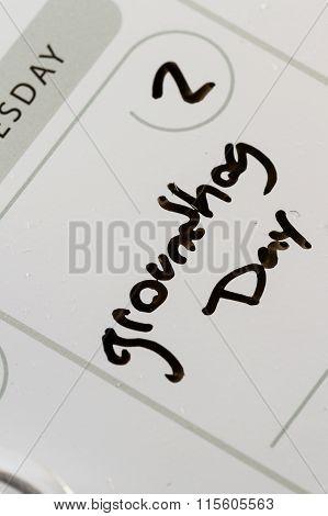 Ground Hog Day On A Calendar