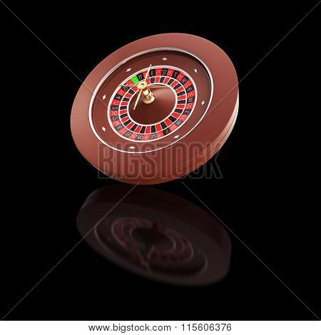 Casino Roulette on a black background.