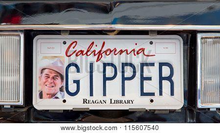 Ronald Reagan Presidential Limosine License Plate