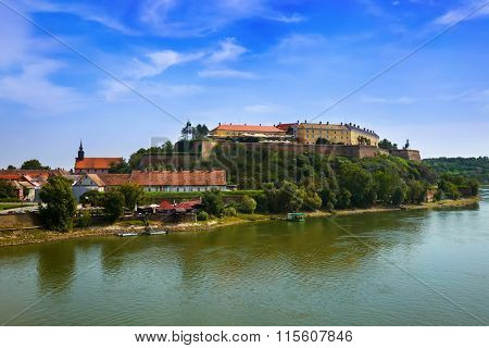 Petrovaradin fortress in Novi Sad - Serbia - architecture travel background poster