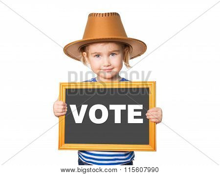 With Blackboard. Text Vote.