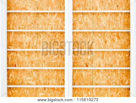 Nice  Blue Skyplywood With Steal Structure Texture Background