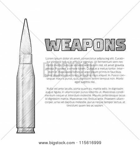 Vintage weapons poster