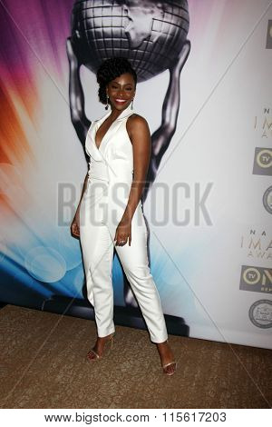 LOS ANGELES - JAN 23:  Teyonah Parris at the 47th NAACP Image Awards Nominees Luncheon at the Beverly Hilton Hotel on January 23, 2016 in Beverly Hills, CA