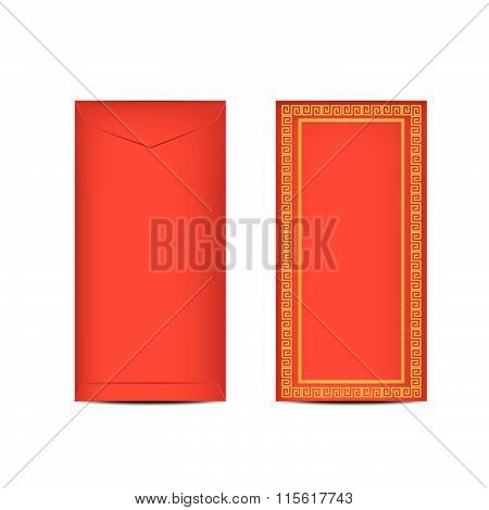 Chinese Ang Pao Or Red Envelope