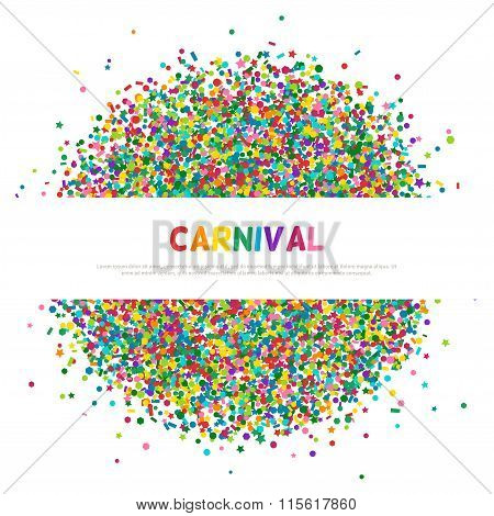Colorful carnival confetti greeting card