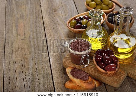 Tapenade, Olives And Olive Oil