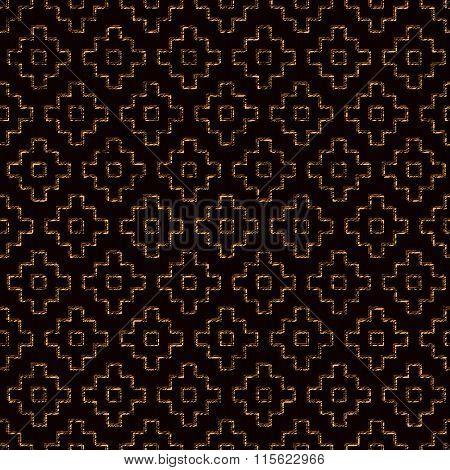 Seamless pattern based on japanese sashiko motifs.