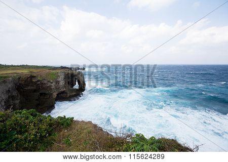 Manzamo Cape in Japan
