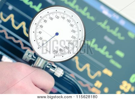 Measurement Of Blood Pressure And Cardiac Monitoring