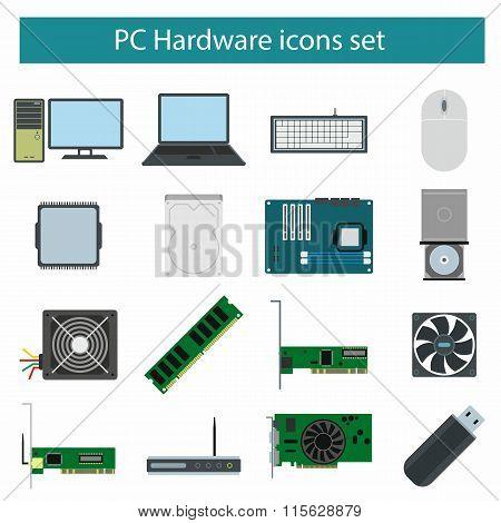 Pc Hardware icons set